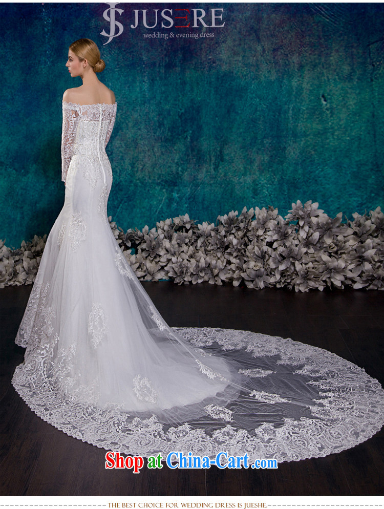 It is the JUSERE high-end wedding dresses 2015 New Field shoulder ...