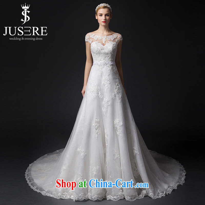 It is the JUSERE high-end wedding dresses 2015 new erase chest Openwork package shoulder high waist graphics skinny tail bridal wedding dresses wedding white 4