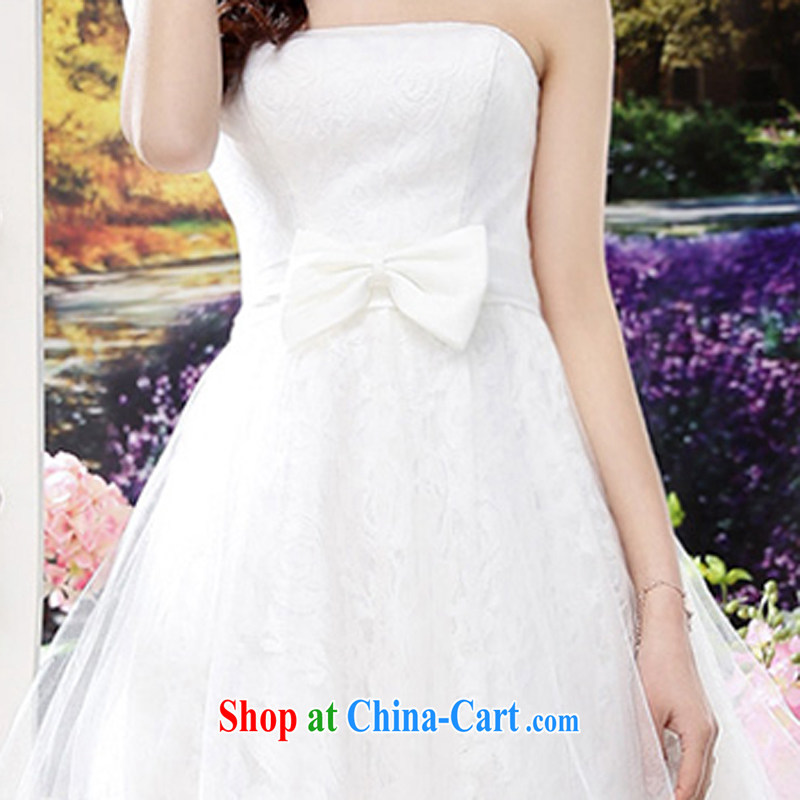 2015 summer edition Korea beauty plastic stylish lace bare chest, long, Shaggy wedding dresses skirt white M, charm and Asia Pattaya (Charm Bali), online shopping