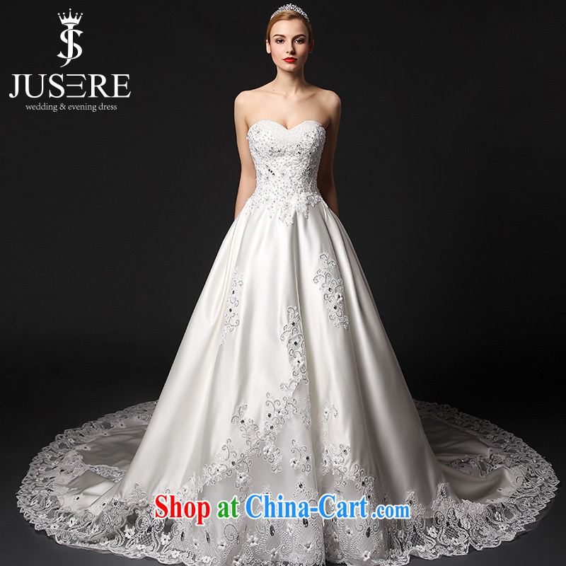 It is not the JUSERE high-end wedding dresses spring 2015 erase chest Satin wedding dresses, Japan, and South Korea wedding bridal wedding dress with wedding white 4