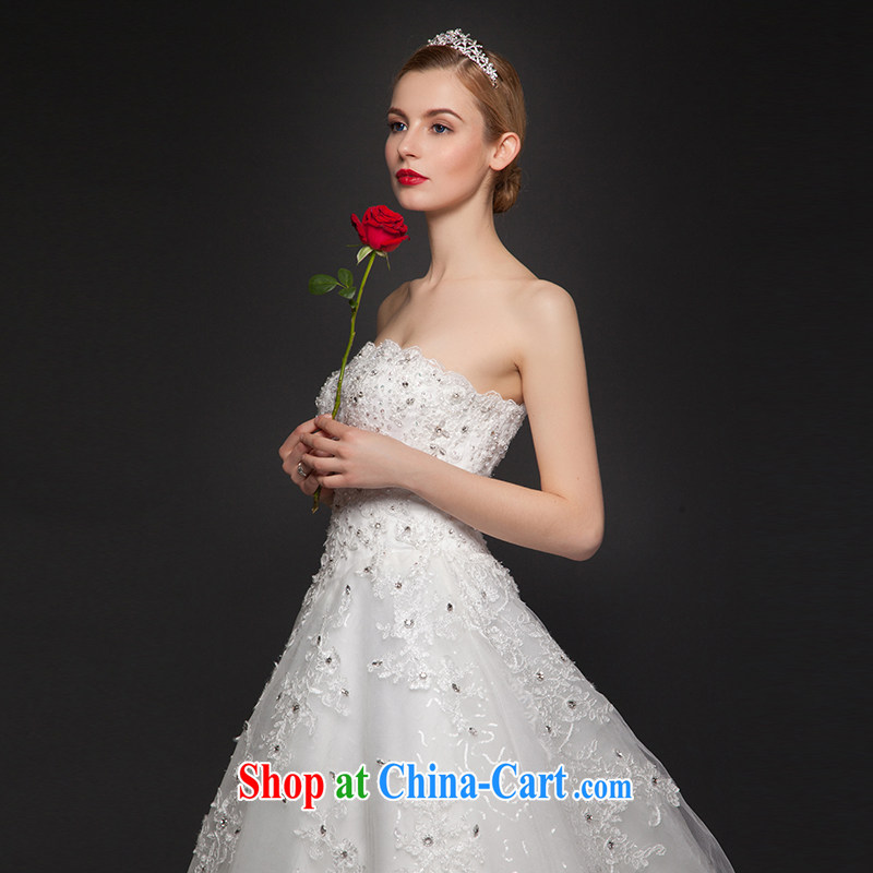 It is not the JUSERE high-end wedding dresses 2015 spring and wiped his chest wedding dresses, Japan, and South Korea wedding bridal wedding dress luxurious tail wedding white tailored, by no means, that, on-line shopping