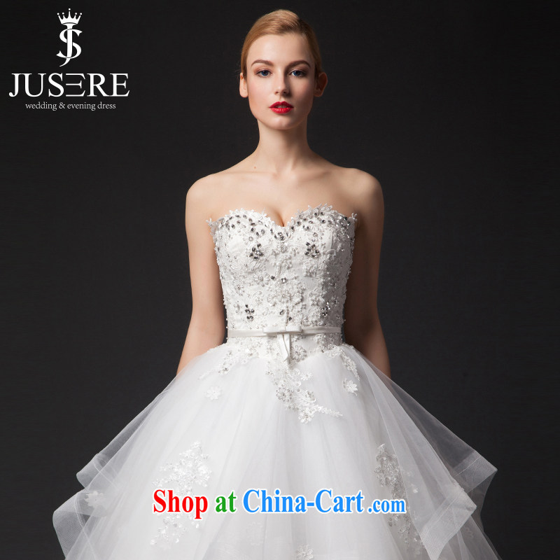 It is the JUSERE high-end wedding dresses spring 2015 heart-shaped collar erase chest wedding, Japan, and South Korea wedding bridal marriage with wedding white tailored