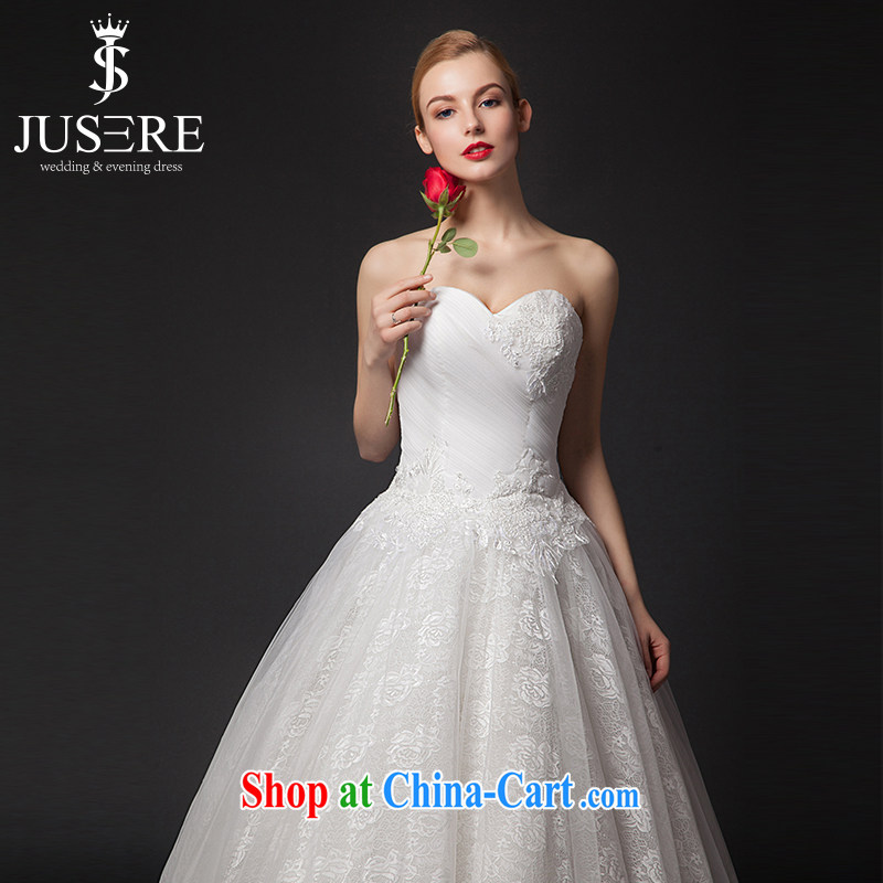 It is the JUSERE high-end wedding dresses 2015 new alignment to erase chest wedding dress Princess dresses Home Sweet shaggy dress wedding white tailored