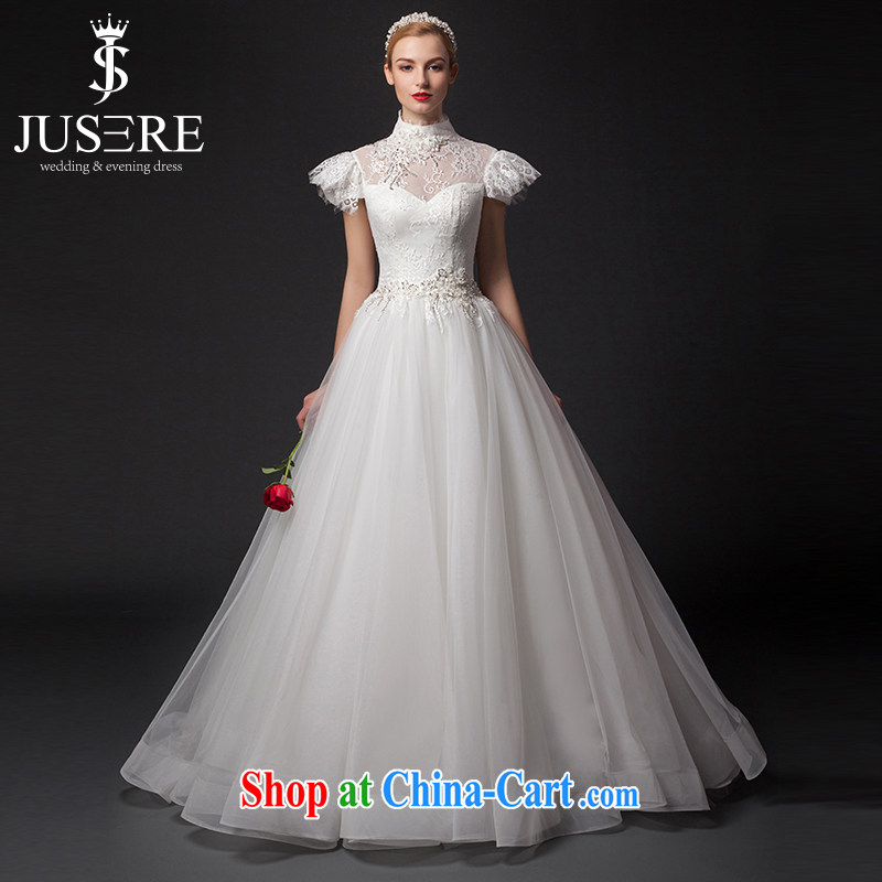 It is not the JUSERE high-end wedding dresses 2015 New with bubble cuff retro with names like the waist graphics thin shaggy dress with white tailored