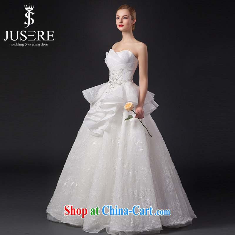 It is not the JUSERE high-end wedding dresses 2015 new wiped his chest, wedding dress Princess flouncing skirt small swing away yarn sweet shaggy dress wedding white tailored