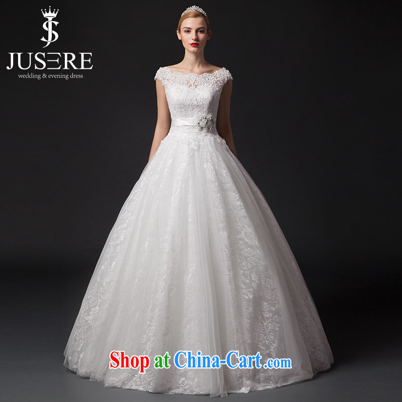 It is the JUSERE high-end wedding dresses 2015 new paragraph to align the field shoulder bag shoulder lace-up waist graphics thin marriages white tailored