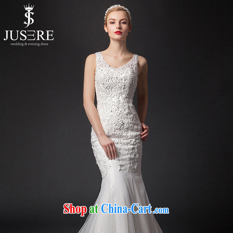 It is not the JUSERE high-end wedding dresses 2015 new shoulders crowsfoot wedding bridal wedding dresses at Merlion white tailored