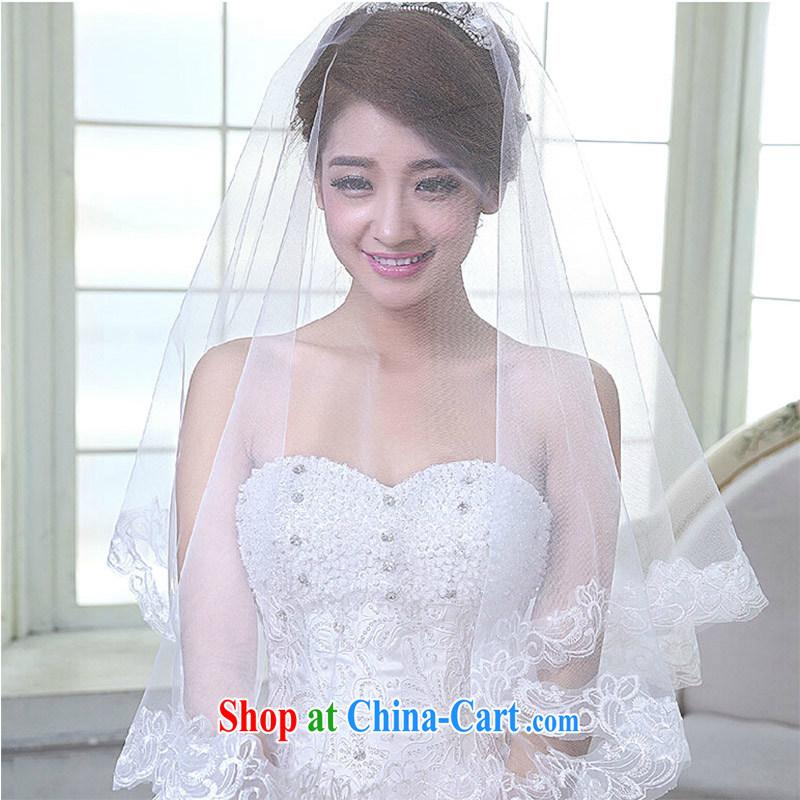 Bridal head yarn boutique head yarn plain lace and yarn bridal accessories 2015 new white 60 - 80 CM
