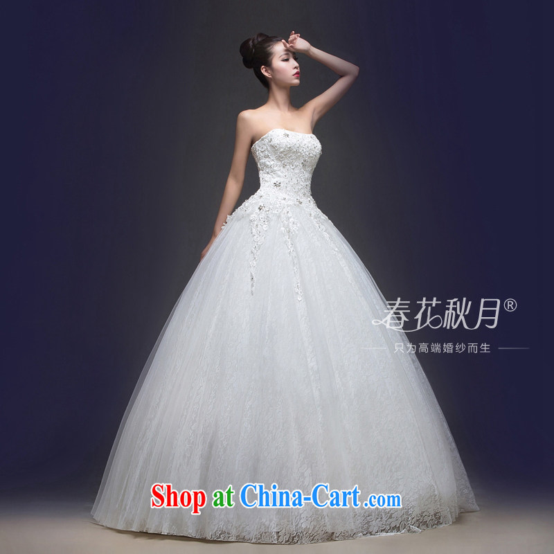 bare chest wedding with new summer 2015, Korean bridal wedding dresses tied with sweet simplicity and beauty video thin spring white XXL