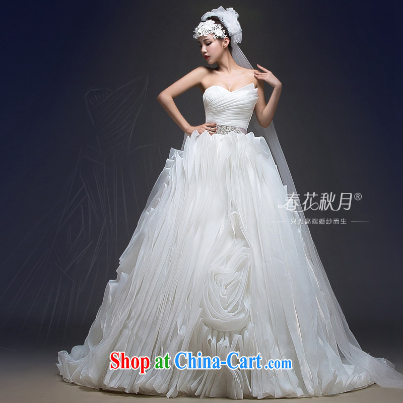 Bride With wedding dresses marriage new 2015 wiped chest strap small tail graphics thin European and American style spring and summer, Tail, XXL