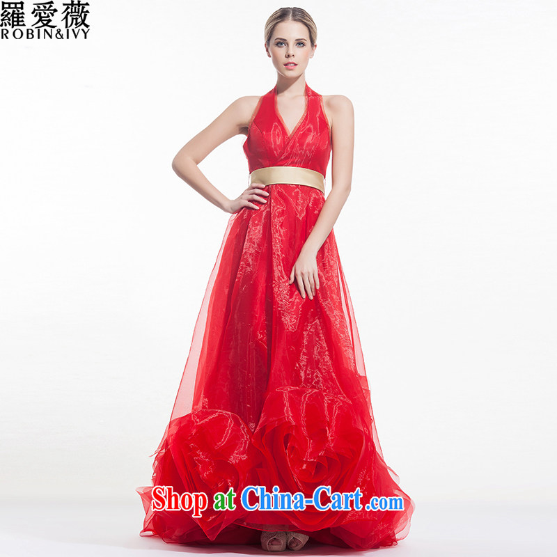 Love, Ms Audrey EU Yuet-mee, RobinIvy_, Japan, and the ROK wedding dresses 2015 spring and summer New Red hook also diamond tail marriages H 34,529 red long advanced customization _25 Day Shipping_