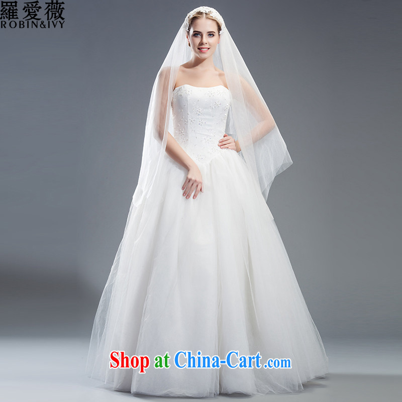 Love, Ms Audrey EU Yuet-mee, RobinIvy), Japan, and the Republic of Korea wedding dresses 2015 spring and summer new erase chest nails Pearl with marriages H 34,532 white advanced customization (25 Day Shipping)