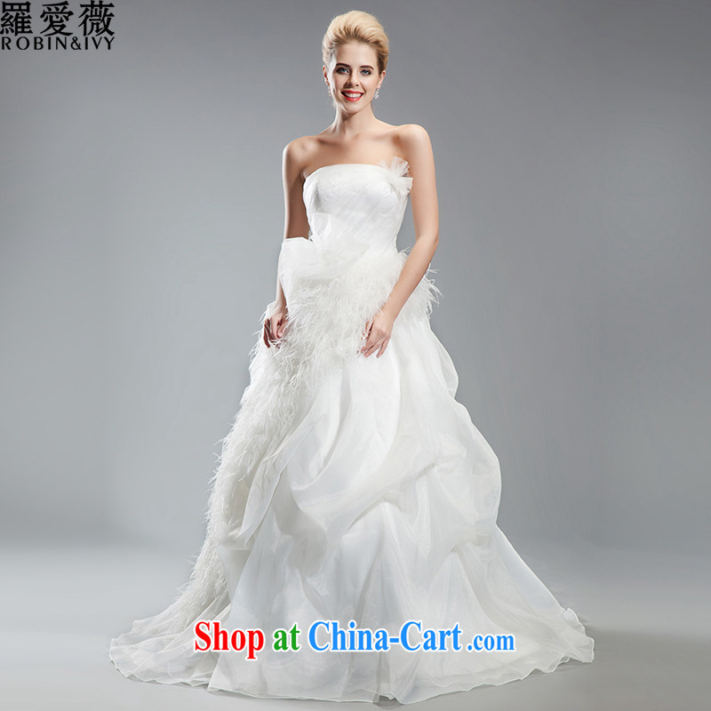 Love, Ms Audrey EU Yuet-mee, RobinIvy_, Japan, and the ROK wedding dresses 2015 spring and summer new erase chest feather tail marriages H 34,539 white advanced customization _25 Day Shipping_