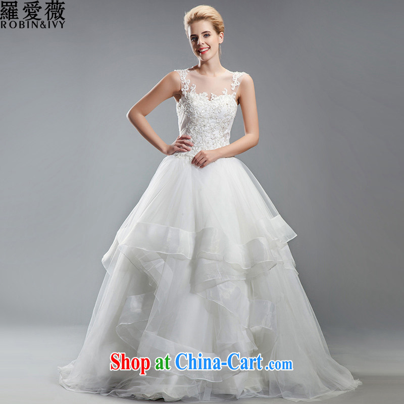 Love, Ms Audrey EU Yuet-mee, RobinIvy), Japan, and the ROK wedding dresses 2015 spring and summer new shoulders diamond tail marriages H 34,543 white advanced customization (25 Day Shipping)