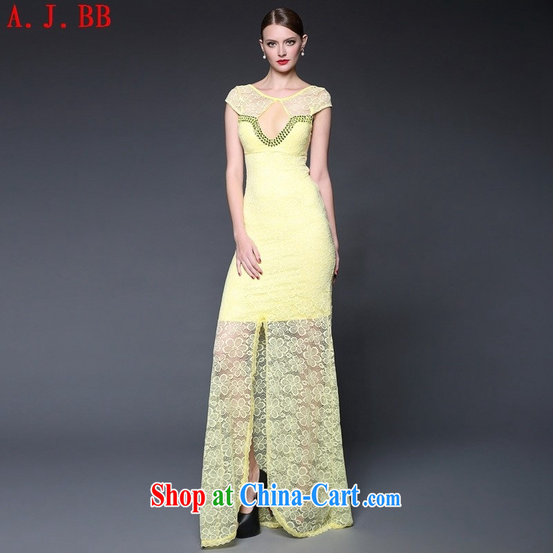 Black butterfly 2015 Summer in Europe and the new dress lace stitching staples Pearl long sexy Evening Dress dresses W 0230 white are code