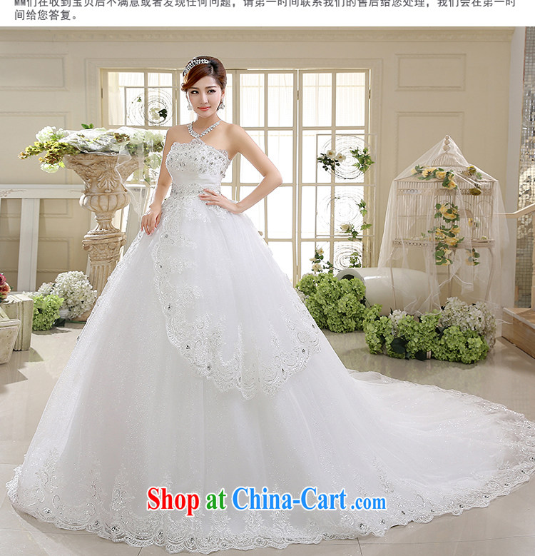 White first into some high-waist wedding Korean wiped chest High-tail shaggy dress bride Deluxe body wedding dresses spring 2015 new white XXL pictures, price, brand platters! Elections are good character, the national distribution, so why buy now enjoy more preferential! Health