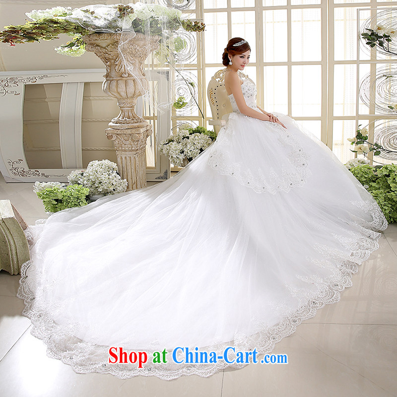 White first into some high-waist wedding Korean wiped chest High-tail shaggy dress bride Deluxe body wedding dresses spring 2015 new white XXL, white first about, shopping on the Internet
