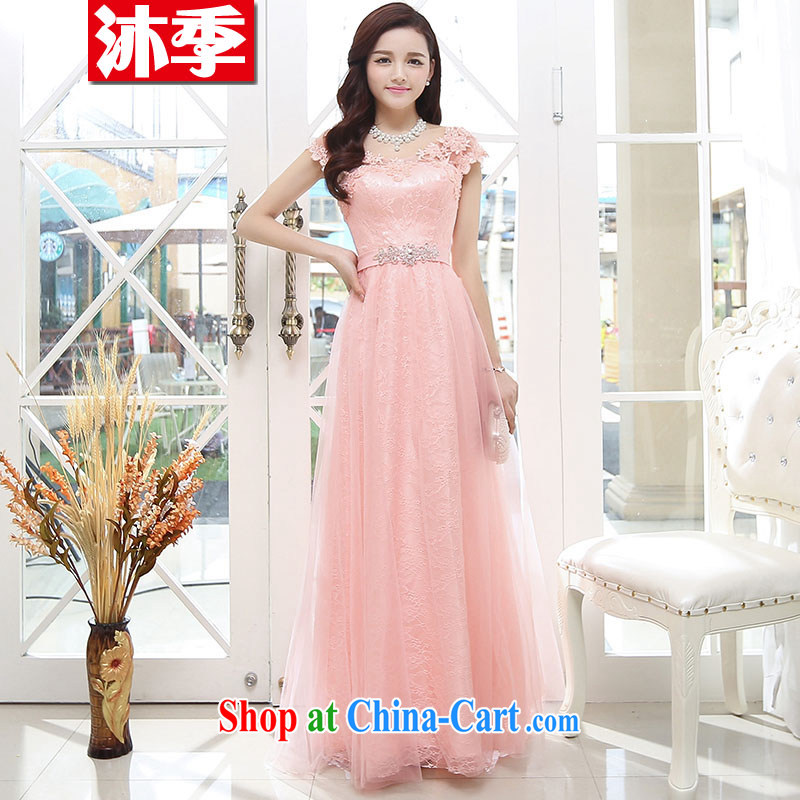 Mu season 2014 New Name Yuan small fragrant wind sleeveless beauty upscale wedding A field dresses wedding dress 1569 pink L