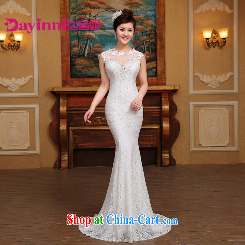 wedding dresses new 2015 spring collection at Merlion waist small tail summer shoulders Korean marriages beauty graphics thin white S