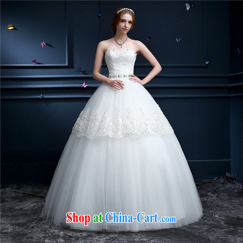 The Champs Elysees, as soon as possible, in summer 2015 with wedding new continental erase chest strap the Code women married Princess shaggy dress bridal dresses chest bare white XXL