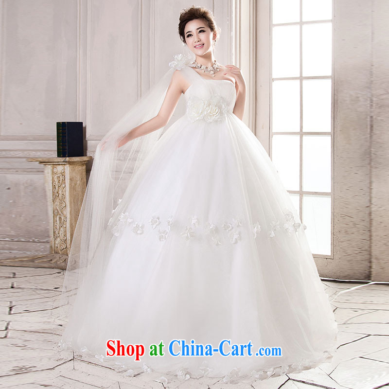Jubilee 1000 bride 2015 spring and summer new Korean high-waist graphics thin stylish large, pregnant women thick MM brides with wedding dresses H 711 white high waist graphics thin XXL/2 feet 6 waist
