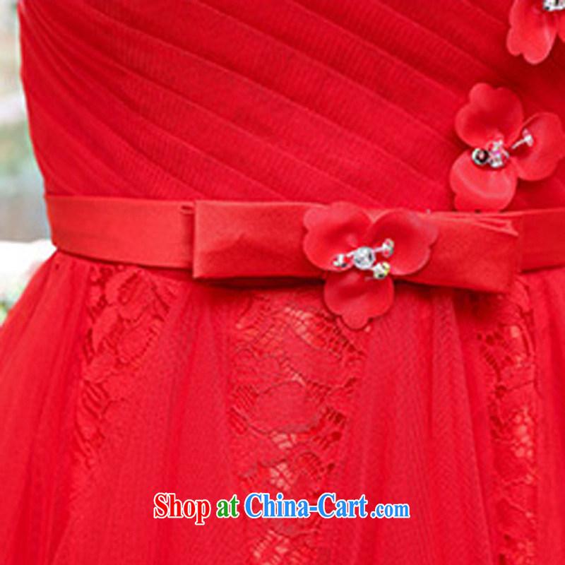Arrogant season summer 2015 new Korean women waist-cultivating noble magnificent round-neck collar shaggy dress dress dress red S, arrogant season (OMMECHE), online shopping
