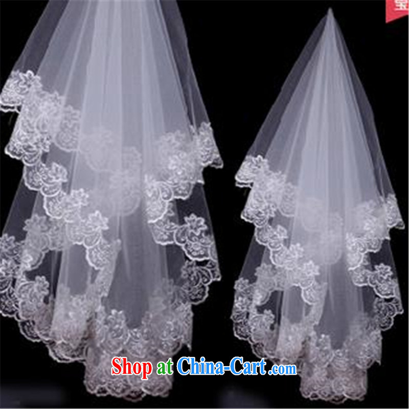 Korean-style New lace lace long 3M tail married women and legal wedding dresses accessories 3m White
