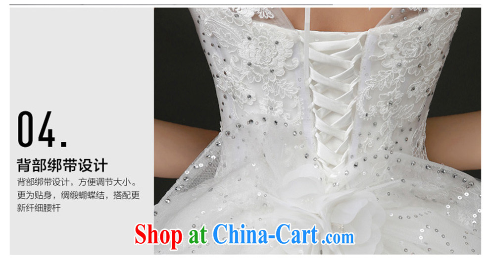 The beautiful yarn 2015 summer New Field shoulder stylish and elegant wedding dress unique flow, shoulder with tail wedding dresses white M pictures, price, brand platters! Elections are good character, the national distribution, so why buy now enjoy more preferential! Health