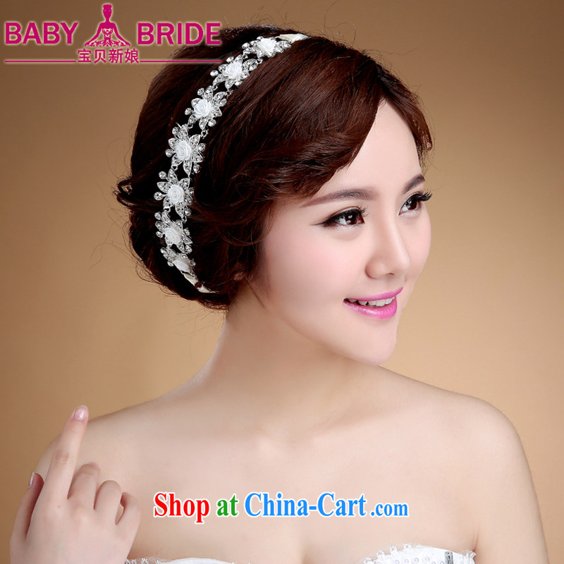 Bridal and flower Korean manual lace white-trim head-dress wedding hair accessories wedding dress with white