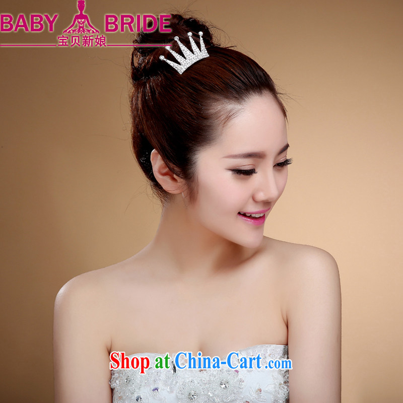 Bridal crown, combing International Korean Jewelry ornaments marriages marriage, jewelry white