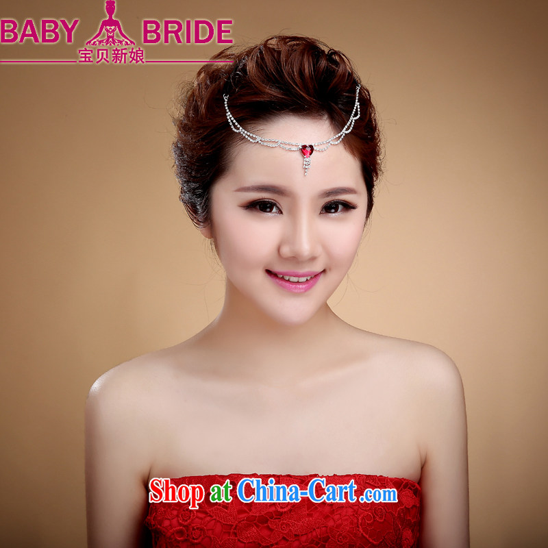 Bridal HAIR ACCESSORIES Korean style of ornaments and heart fall water drilling wedding head-dress wedding small fairies styling hair clamp Crown white