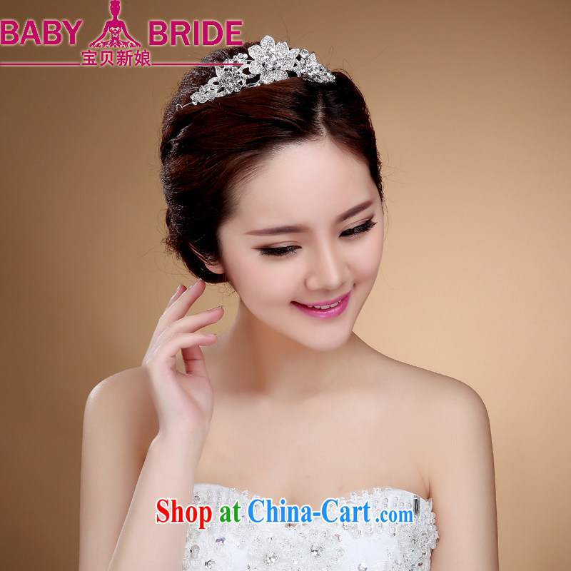 Bridal jewelry crystal and popular hair accessories Korean crown wedding dresses 100 ground beautiful 10 foot white