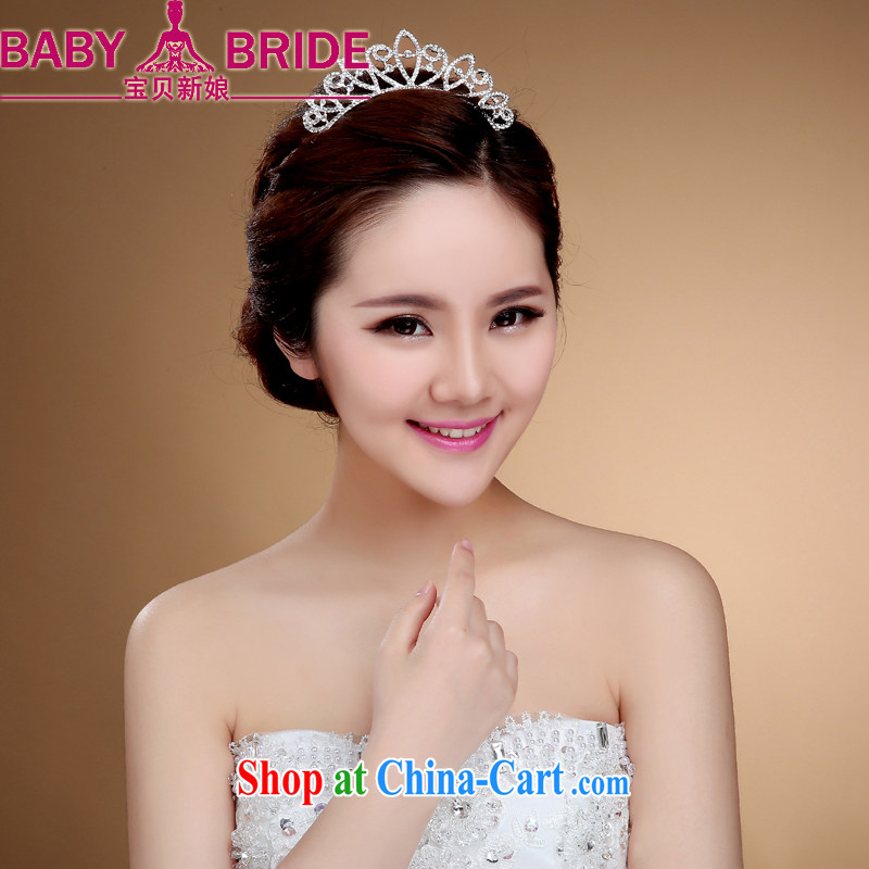 Bridal crown with Korean wedding hair accessories water drilling the card the comb-style furnishings marriage and white