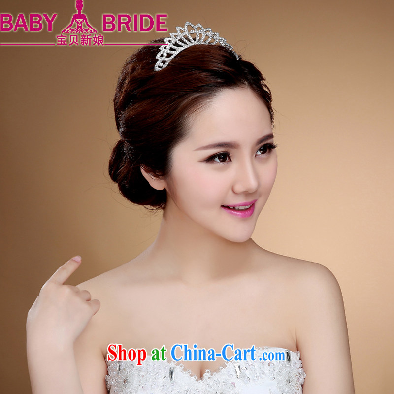 Korean bridal crown and ornaments, jewelry bridal jewelry wedding and Crown jewelry accessories white
