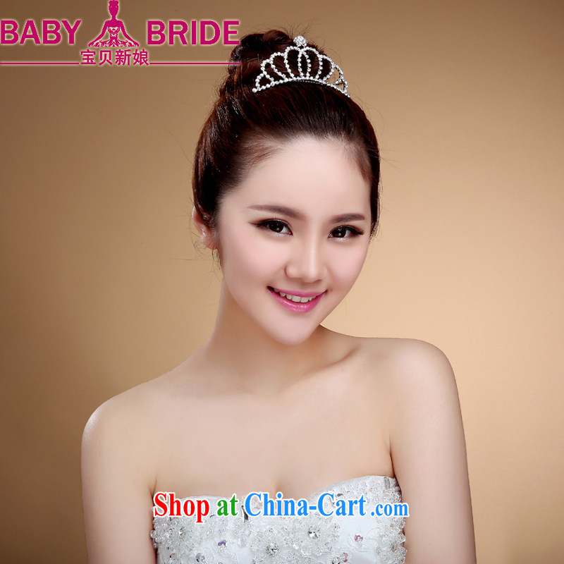 Korean version the comb-bride small Crown wedding dresses and bridal jewelry white