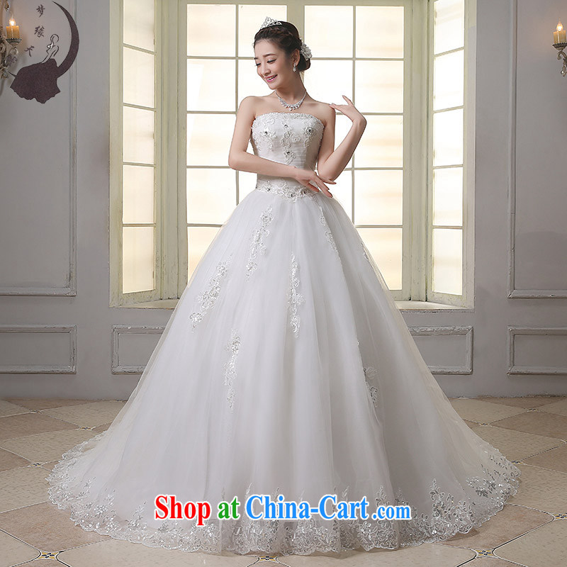 Dream of the day wedding dresses lace bare chest, Japan, and South Korea with 2015 new tail wedding dress tail, S