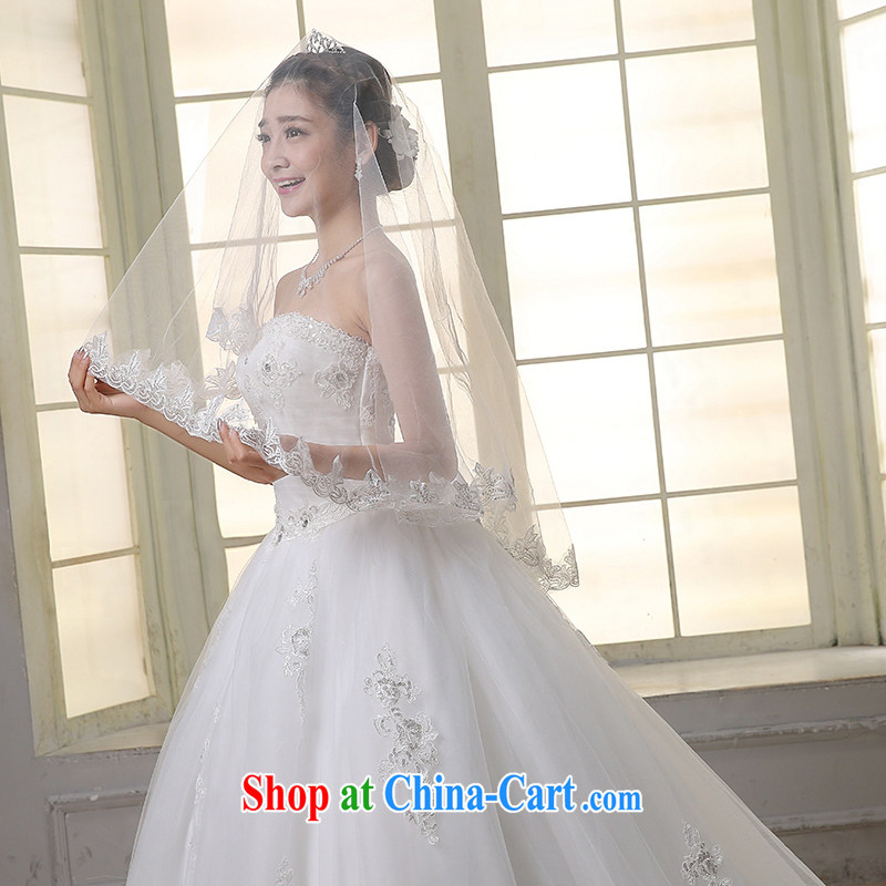 Dream of the day wedding dresses lace bare chest, Japan, and South Korea with 2015 new tail wedding dress tail, S, Dream of the day, shopping on the Internet