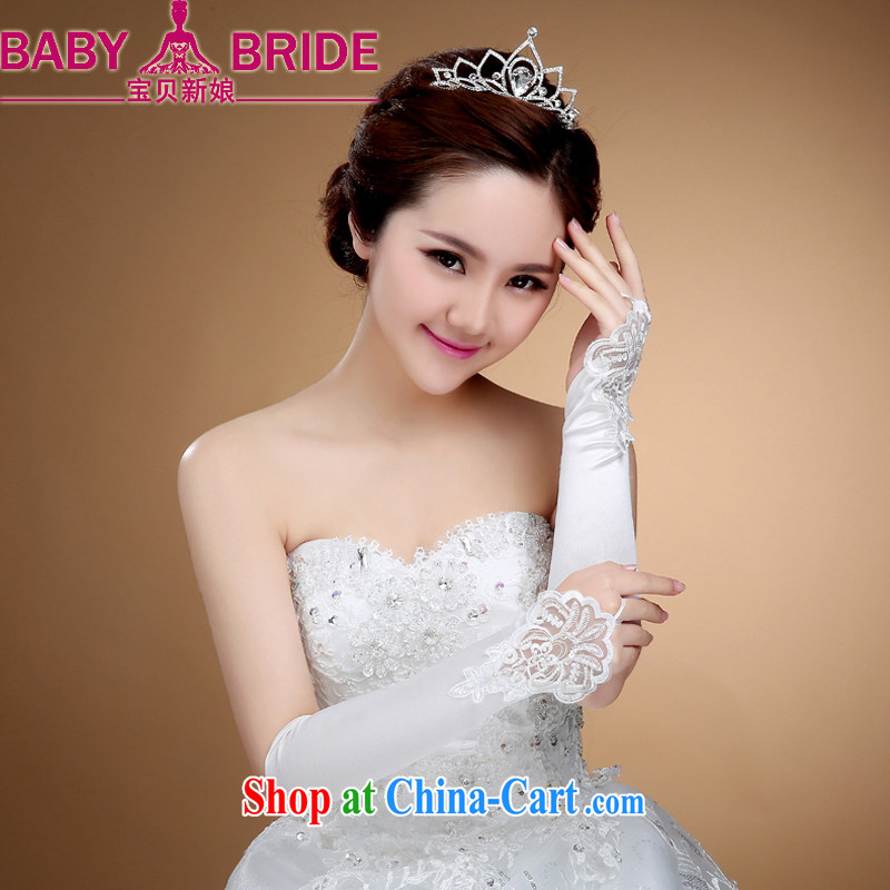 Bridal wedding dresses show a short yarn gloves check means no means lace gloves wholesale wedding accessories white