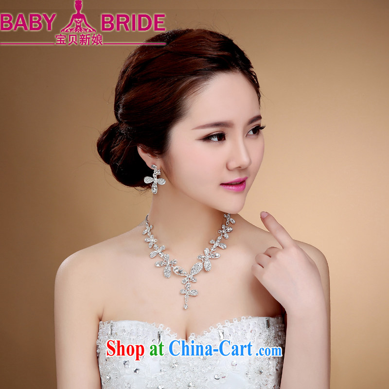Flower ki bridal jewelry forehead link water drilling Korean style