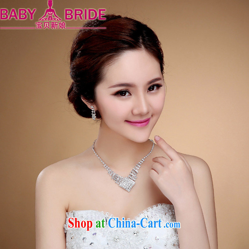 Recommended bridal suite link luxury bridal necklace earrings wedding jewelry wedding accessories jewelry dinner clavicle link female white
