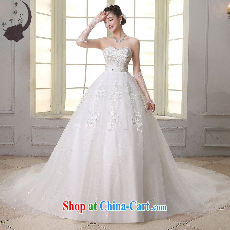 Dream of the day wedding dresses 2015 new pregnant women high-waist bare chest Korean version with drag and drop tail wedding dress tail, XXL 2.3 feet waist