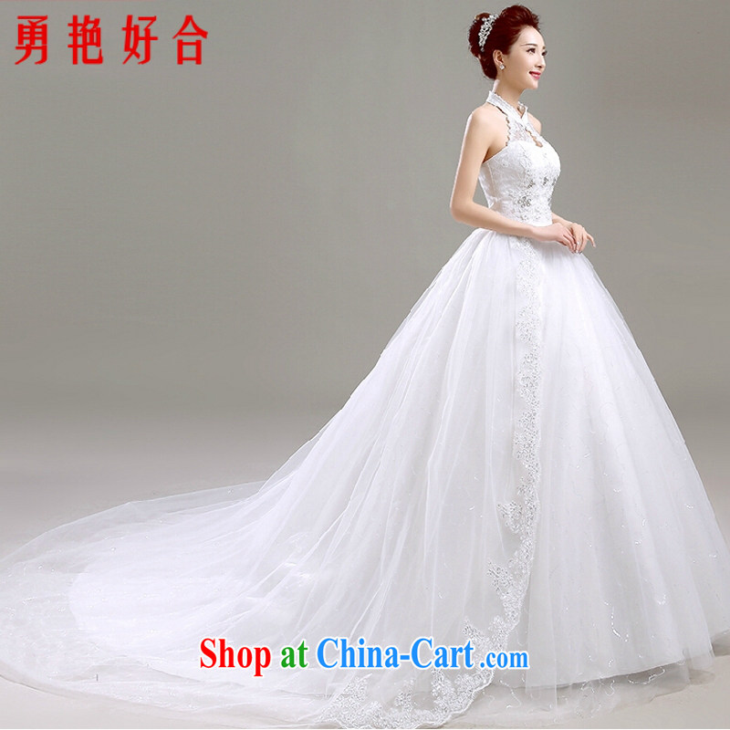 Yong-yan and Korean-style is also wedding summer 2015 new spring fashion beauty graphics thin bridal white Princess wedding dresses white tail M