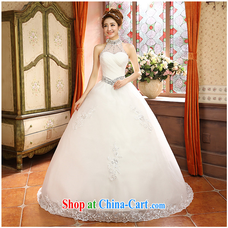 The beautiful yarn with a also A swing wedding purely manual staple Pearl sexy exposed back strap new sleeveless beauty graphics thin bridal shaggy dress factory direct made white can be customized