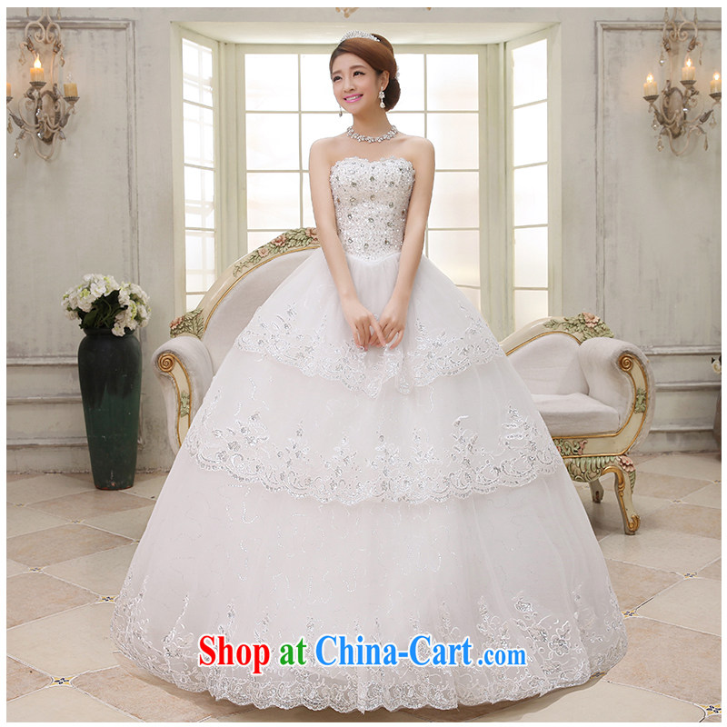 The beautiful yarn wiped his chest, Bridal Suite 2015 new luxury with a drill in the bound beauty with graphics thin A with bridal wedding dresses white customizable