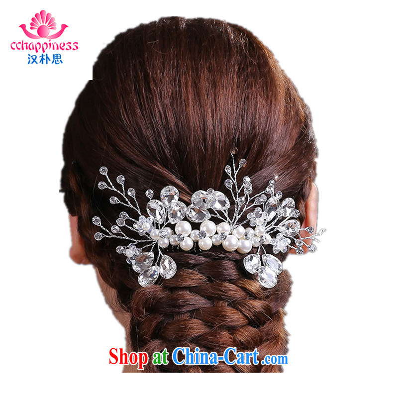 Han Park (cchappiness) Korean version and spend bridal hair accessories crystal manually and ornaments Pearl standard stars, the comb