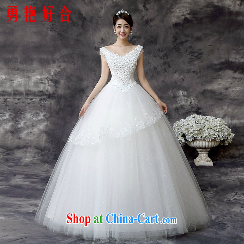 Yong-yan and wedding dresses 2015 new spring Korean bridal wedding a field aligned shoulder to shoulder the Summer code lace Princess skirt white. size will not be returned.