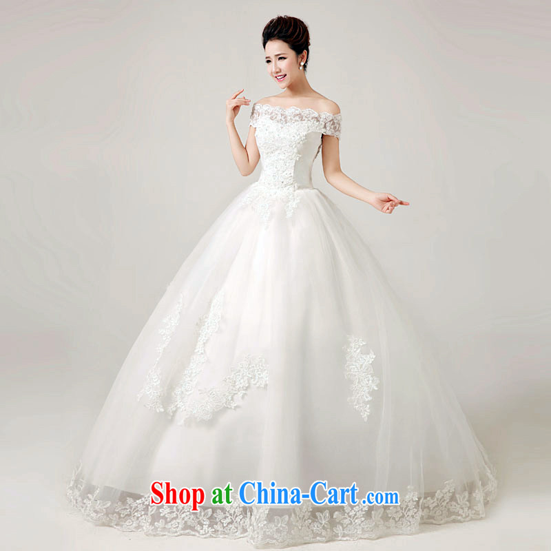 White home about wedding dresses 2015 spring and summer New Field shoulder lace-tail with stylish strap wedding white tailored contact Customer Service
