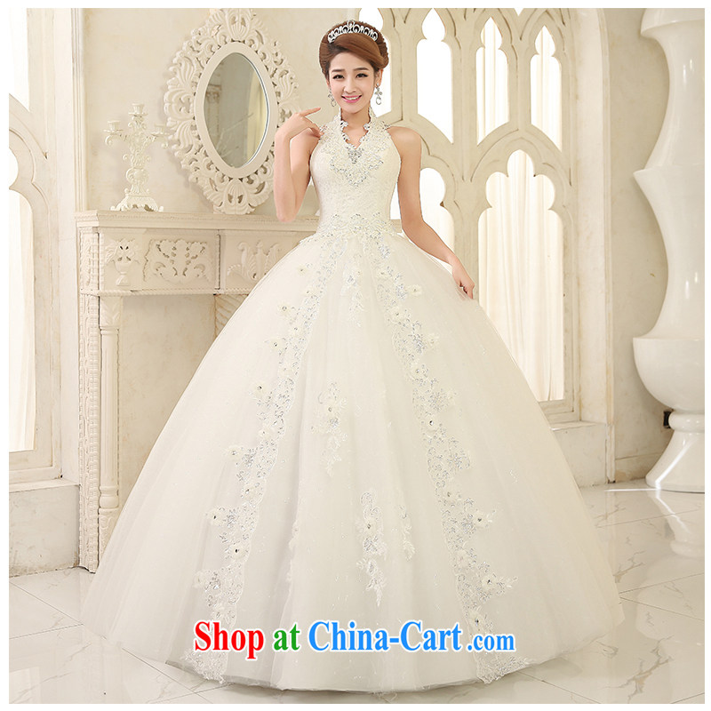 Summer 2015 is also with wedding New A with elegant beauty tie sleeveless simple marriages affect wedding dresses, beautiful yarn white customizable