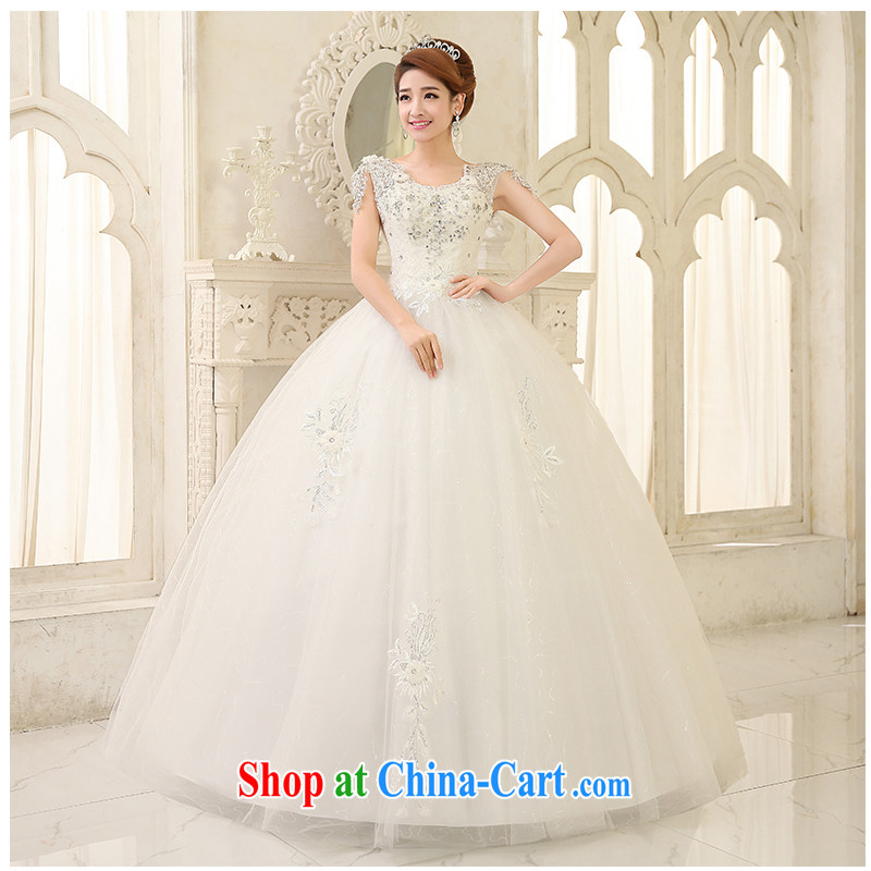 2015 new dual-shoulder with wedding sleeveless simple beauty A swing graphics thin strap marriage wedding, beautiful heydays, direct the code custom white customizable