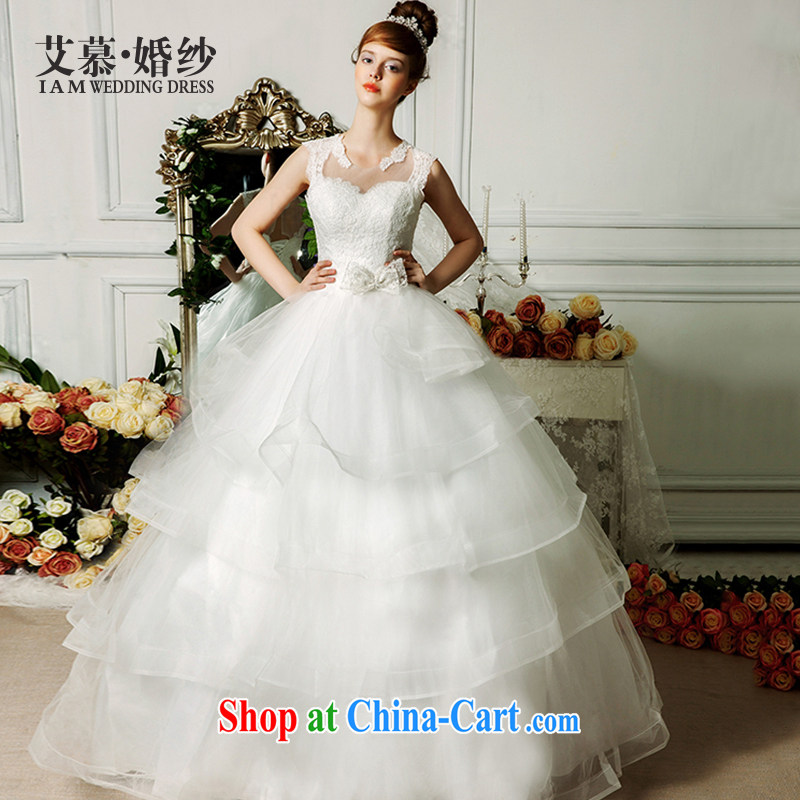 On the wedding dresses new 2015 diffuse Connie double-shoulder bare chest Shaggy, wedding ivory L